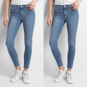 GAP Mid Rise Easy Ankle Jeggings